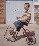 Funny Pictures of Tricycle With Square Wheel