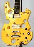 Funny Pictures of Electric Guitar that Looks Like Cheese