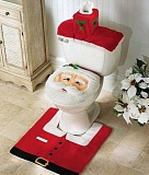 picture of Santa toilet cover.