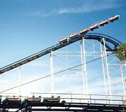 Funny Pictures of a Roller Coaster Soaring Off Its Tracks