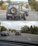 Funny Pictures of Car with Extended Axle