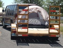Funny Pictures of Tent on Car Trailer
