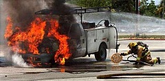 Funny Pictures of Truck Fired Pizza