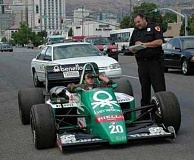 Funny Pictures of Benetton Formula Speeding Ticket