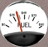 Funny Pictures of Fuel Gauge With Dollar Amounts