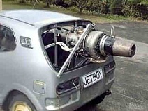 Funny Pictures of Car With Jet Engine