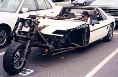 Funny Pictures of Half Car Half Motorcycle