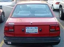 Funny Pictures of Pirate AAAAARGH License Plate