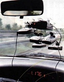 Funny Pictures of Radar Detector on Windshield