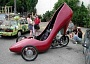 Funny Pictures of Motorcycle Shoe Art Car