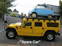 Funny Pictures of Spare Car on Hummer