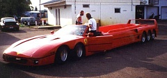 Funny Pictures of Stretch Ferrari