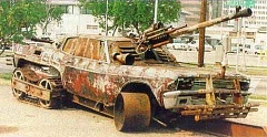 Funny Pictures of A-Team Car Scrap Tank