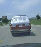 Funny Pictures of Van Duct Tape Rear Window