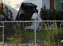 Funny Pictures of pickup Truck Box In Backyard