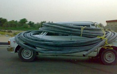 Funny Jokes Pictures of truck wrapped in pipe.