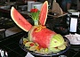 Funny Pictures of Donkey Shaped Watermelon
