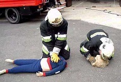 Funny Pictures of Fire Department Artificial Respiration Dummy
