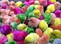 Funny pictures of colored chicks that have been fed Fruit Loops.