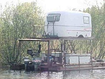 Funny Pictures of Scamp Trailer House Boat Float