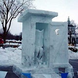 Funny Pictures of Ice Outhouse Sculpture