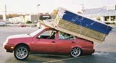 A Funny picture of an overloaded car