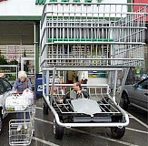 Funny Jokes Pictures of Man Driving A Shopping Cart