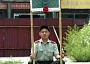 Funny Pictures of Soldier Holding Target