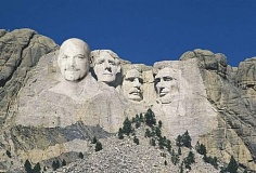 Funny Pictures of Governor Jessie Ventura on Mount Rushmore