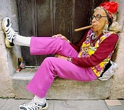 Funny Pictures of Church Secretary Smoking Cigar