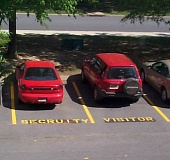 Funny Pictures of Mispelled Parking Space