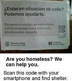 Picture of a funny are you homeless sign