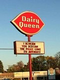 sign scream for ice cream