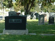 Funny Pictures of Blank Tombstone