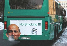 Funny Pictures of No Smoking Sign On Bus