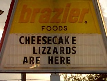 Funny Pictures of Dairy Queen Lizzard Sign