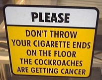 Funny Pictures of Cigarette Roach Sign