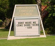 Funny Pictures of Church Sign Threat