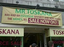 Funny Jokes Pictures of Sign Divorce Sale
