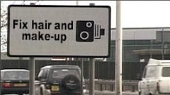 Funny Pictures of Photo Radar Make-up Sign