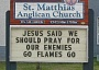 Funny Pictures of Church Hockey Prayer Sign