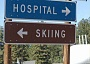 Funny Pictures of Skiing and Hospital Sign