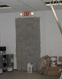 Funny Pictures of Exit Door Cement Blocked In