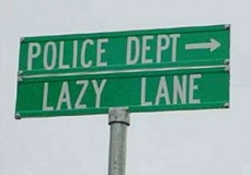 Funny Pictures of Police Department Road Sign