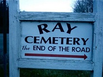 Funny Pictures of Ray Cemetery Sign