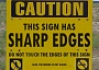 Funny Pictures of Sharp Edges Bridge Out Sign