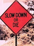 Funny Pictures of Slow Down or Die Sign