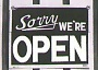 Funny Pictures of Sorry We're Open Sign