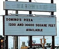 Funny Pictures of Domino's Pizza Sign