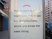Ad for Money Can't Buy You Happiness